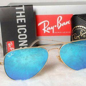 Ray-Ban RB3025 Aviator Pilot Blue LENS Sunglasses